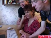 russian lady acquires gangbanged