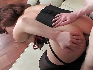 woman having on nylons for her ass workout