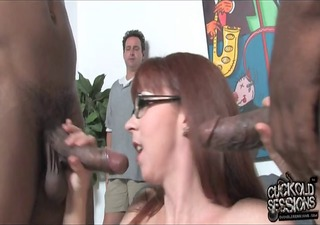 mature mommy owned by blacks in front of cuckold