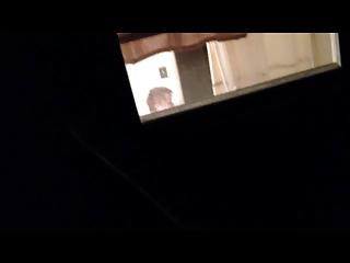 climbed a roof to voyeur a grandma!