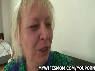 mother in law takes facial