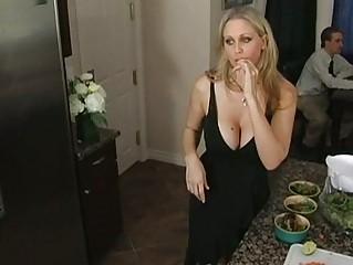 charming naughty blond woman enjoying an boy and