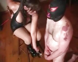 extreme woman desperate balls bondage