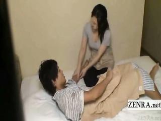 subtitle japanese milf handjob hotel massage gone