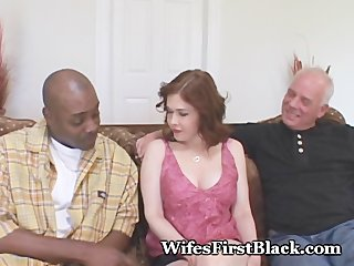 extremely impressive housewife cuckold video