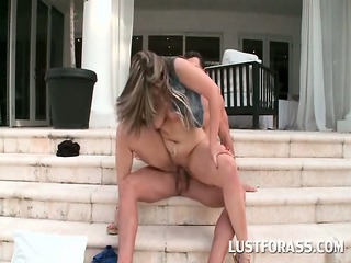 bitchy nympho into huge ass riding penis on the