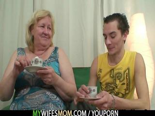 huge old is pierced by her son inside law