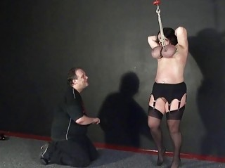 andreas breast hanging and extreme mature bdsm