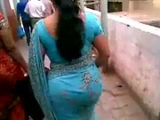 grownup indian bottom inside brown saree.flv