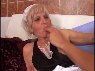 youthful boyfrend copulates an granny granny