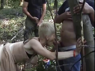 french desperate elderly gangbanged openair
