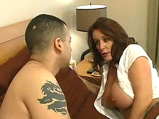 grownup amp with large bossom obtains a bedroom