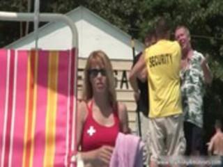 aroused juggs woman getting nude openair