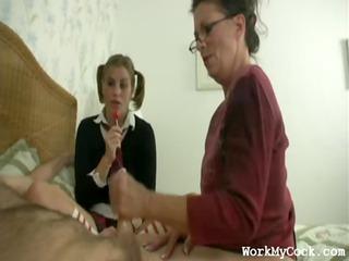 woman handjob