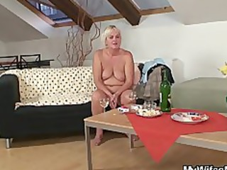 drunk group fuck with desperate old and her son