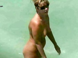 exposed beach cougar voyeur